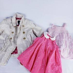 Baby gap girls lot dresses and coat